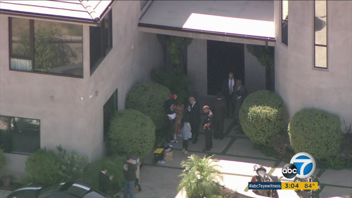 Chris Brown questioned outside Tarzana house, but not arrested