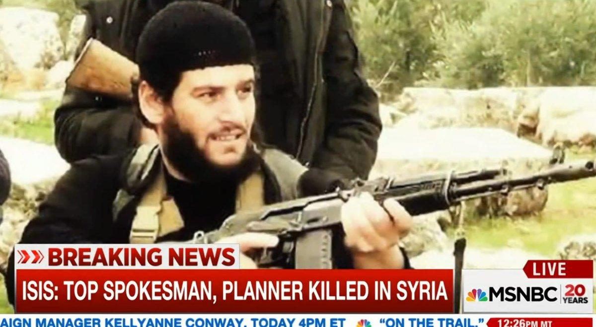 ISIS press release: Our spokesman was killed in Syria