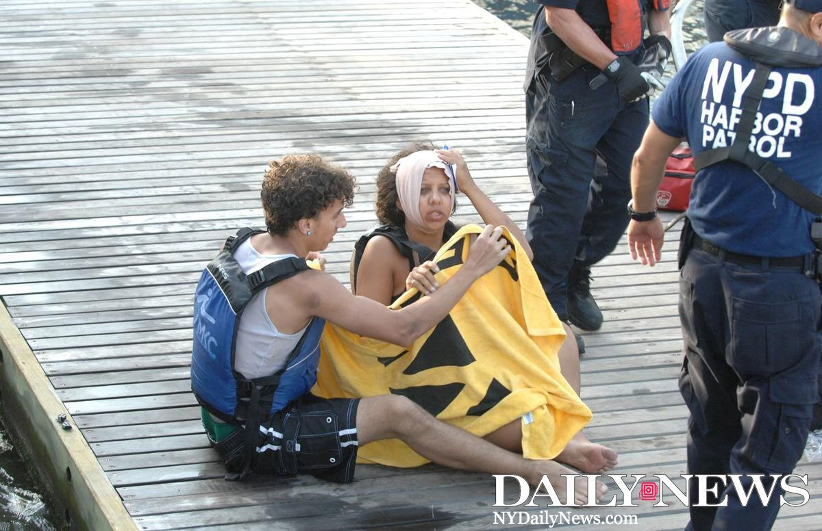 A ferry hit 11 kayakers in the Hudson River, leaving at least seven injured
