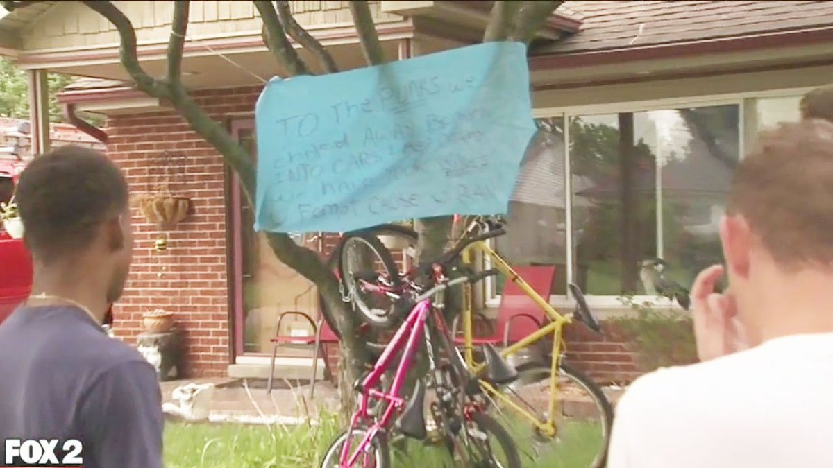 Man leaves note, chains up bikes of would-be teen thieves in front yard, per @charlielangton