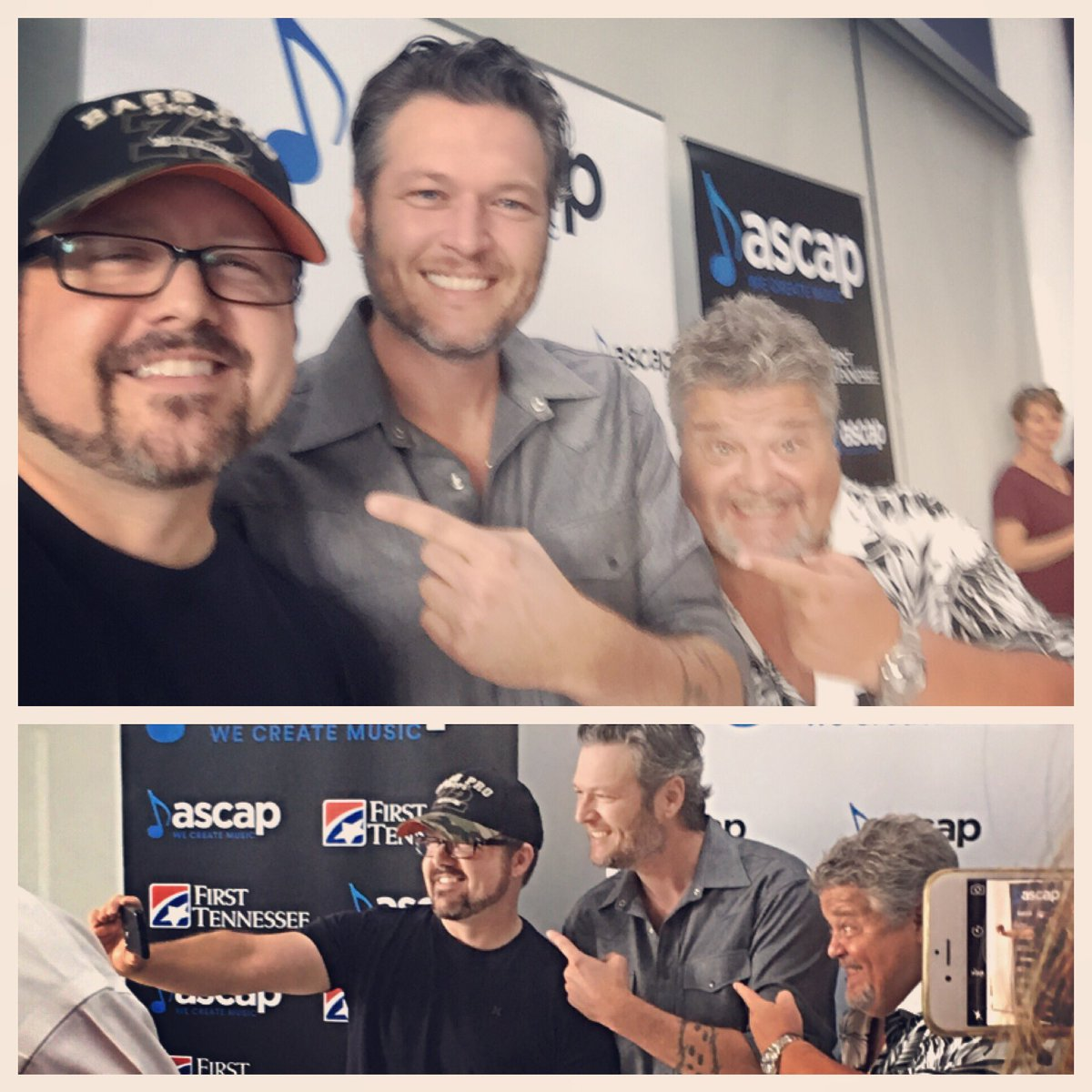 Lot of finger pointing going on at our # 1 party for #CameHereToForget today. Thnx @blakeshelton , Craig & @ASCAP ! https://t.co/QwjrY0FZ8e