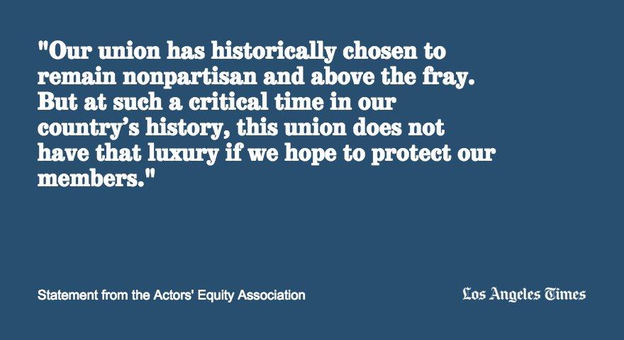 Stage actors union makes historic endorsement for Clinton