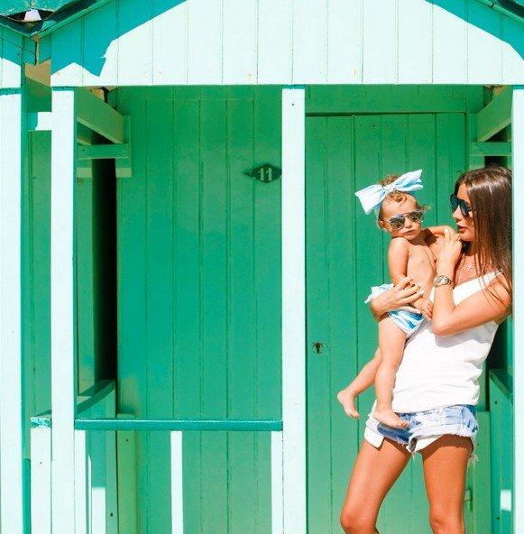 Кэти Топурия устроила шикарную фотосессию для маленькой дочери Оливии