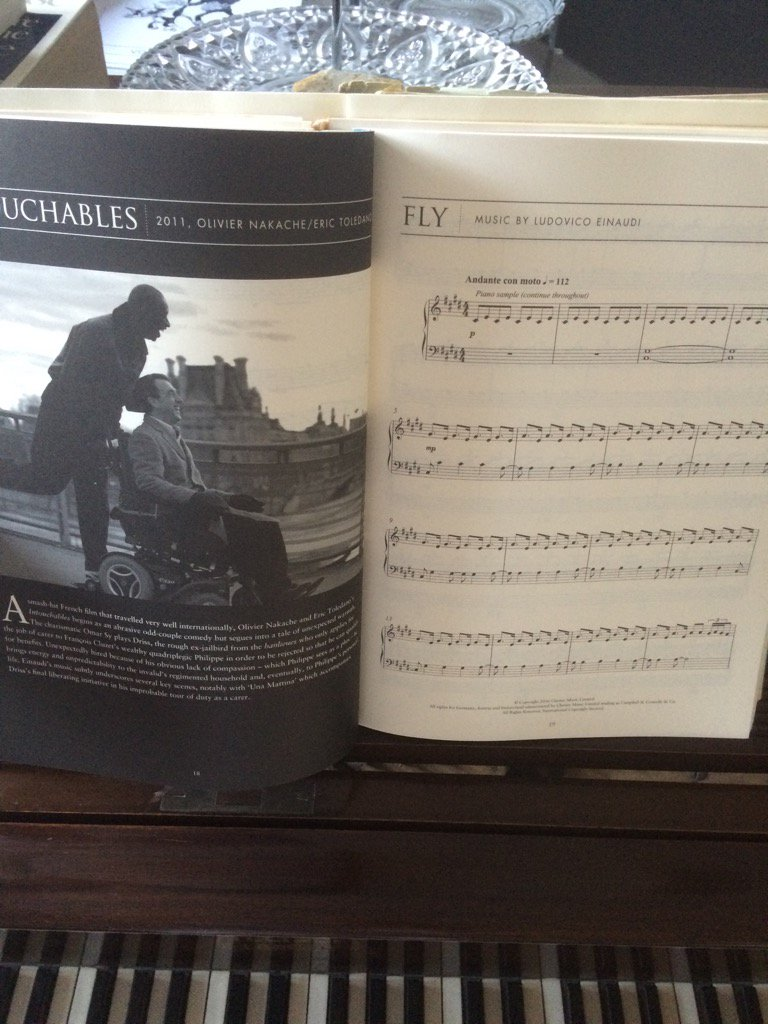 this morning I will mostly be....#les Intouchables #omar sy #piano and #composing <br>http://pic.twitter.com/0lZpGsiDT5