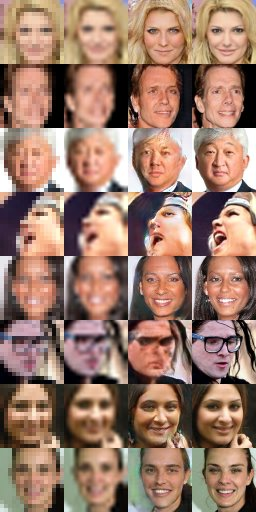 "Filed under ""things AI does very well, today"": convert unrecognisable 16x16 image to hires https://t.co/miRIqncICO https://t.co/W238xDJ6nb"
