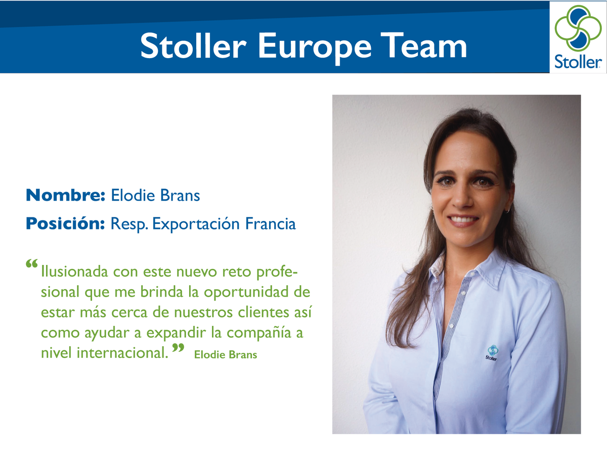 stoller europe on twitter congratulations elo_brans for your new position as export manager for france in stoller europe stollereuropeteam