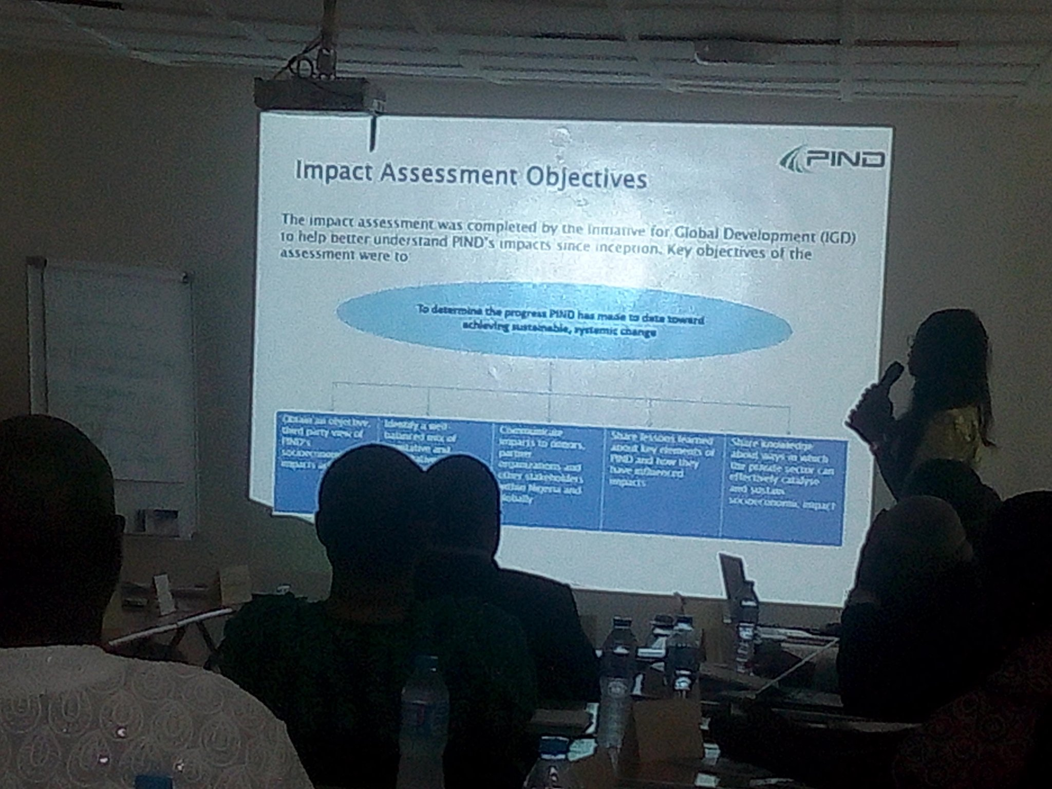 @sholadearie M&E manager explains the PIND approach.  #NDImpact https://t.co/wk01HdheRW