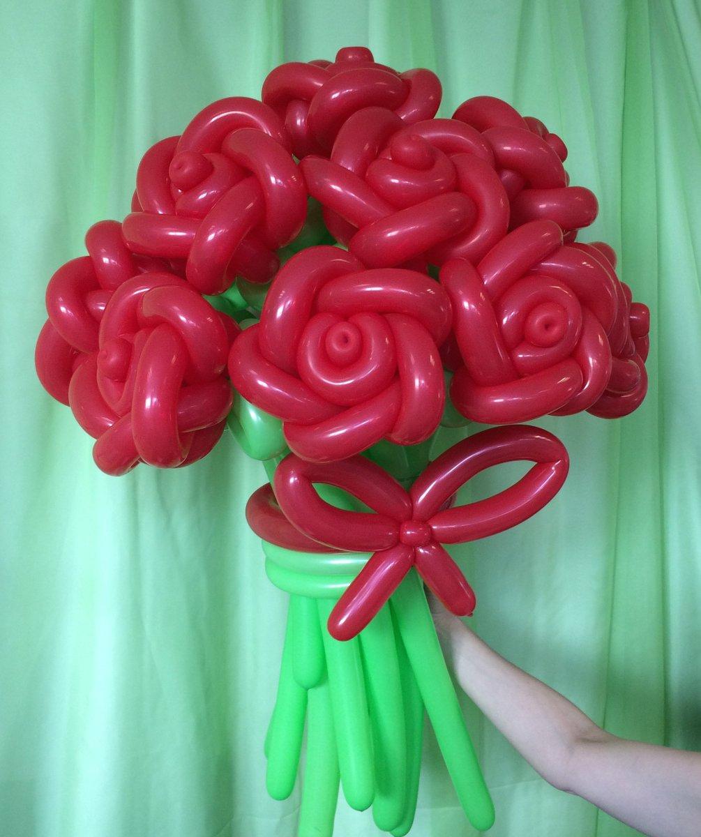 Букеты из роз из шаров