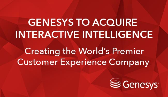 Genesys to Acquire @IN_Intelligence https://t.co/KkdAlPnjhZ https://t.co/vFaXiwjw1G