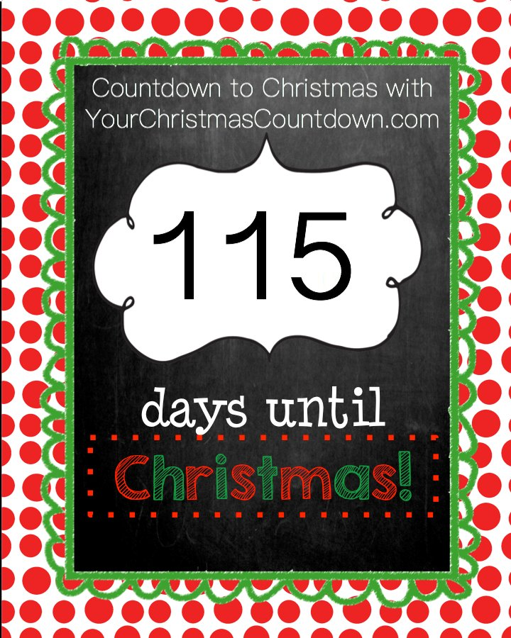 How Many Days Until Christmas Countdown.Your Christmas Countdown On Twitter 115 Days Until
