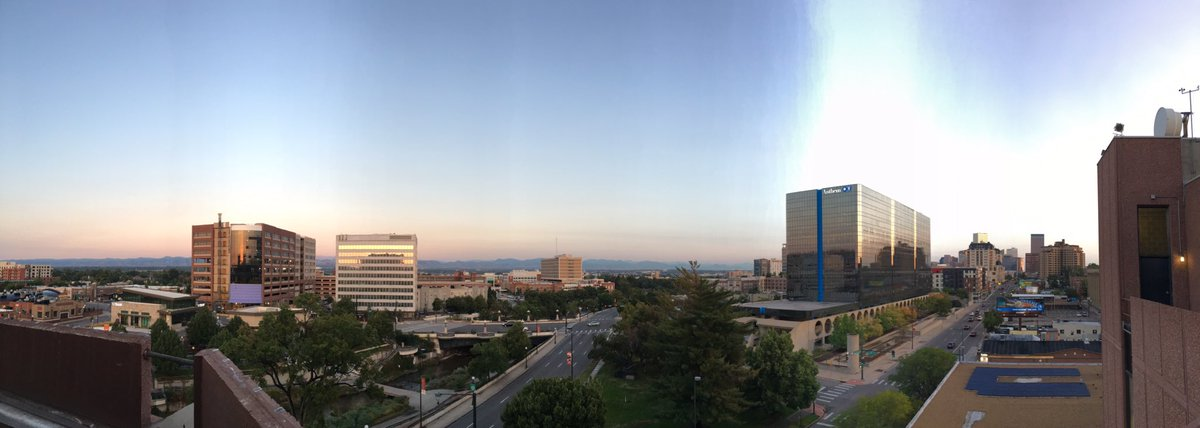 Welcome to our beautiful view of Denver this Wednesday morning.