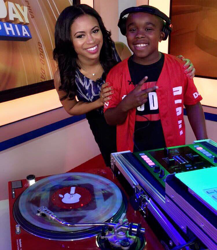 At 11 YEARS OLD, he's performed at the White House and @POTUS bday party...and now he's on @FOX29philly! DJ D-ill!