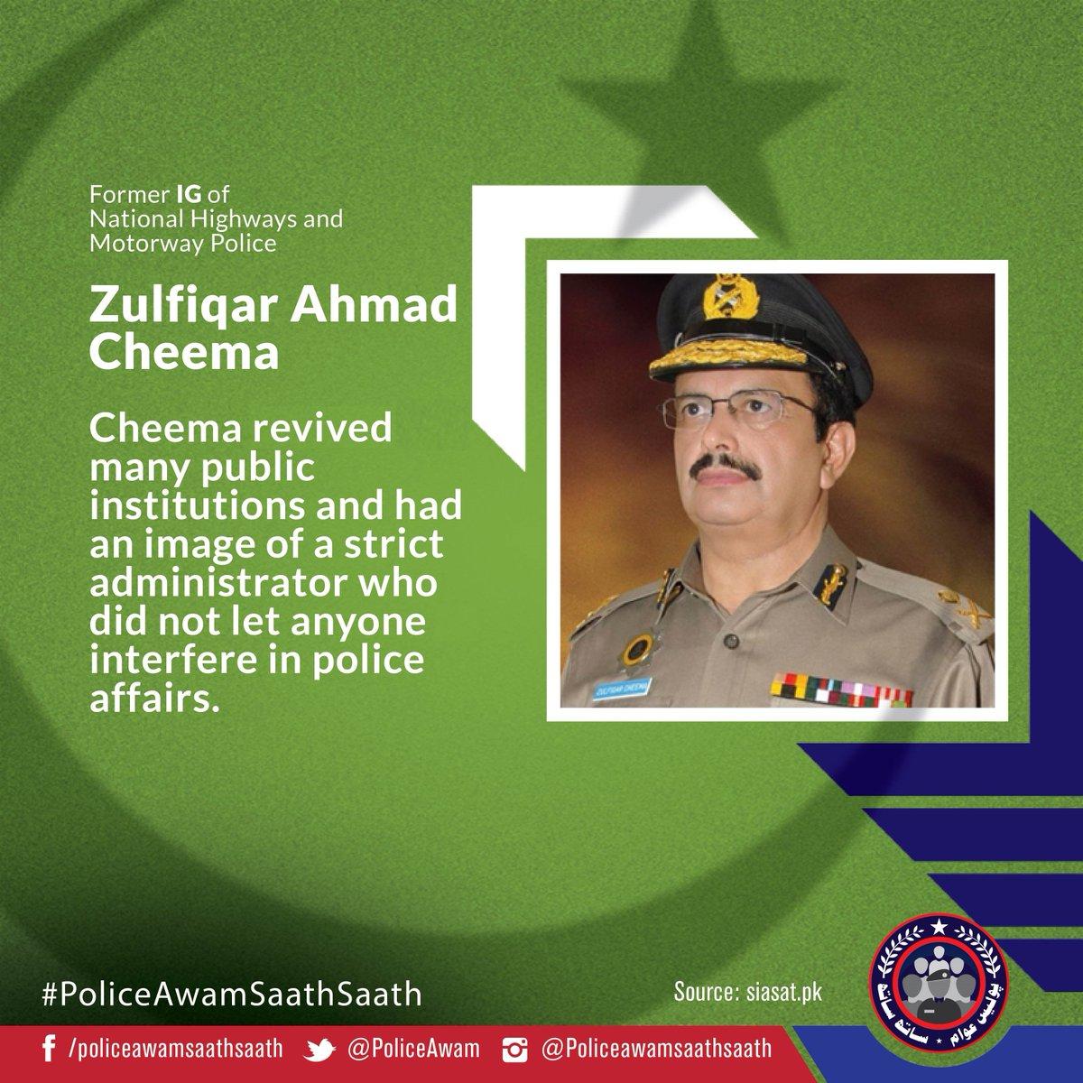 IG Police Zulfiqar Ahmed Cheema