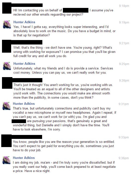 """""""People like you are the reason your generation is so entitled"""""""