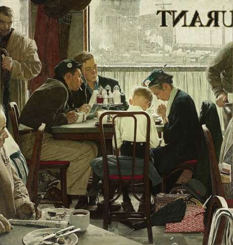 George Lucas bought Rockwell painting 'Saying Grace' at record price.