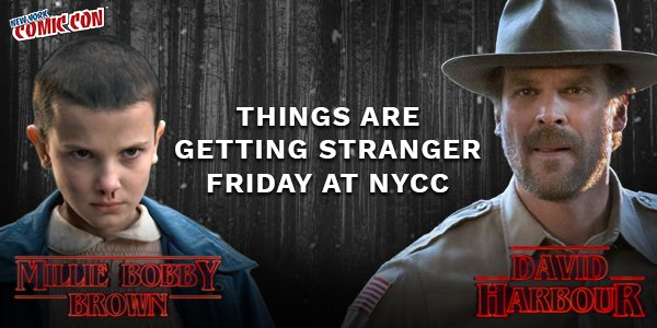 Image result for stranger things nyc comic con