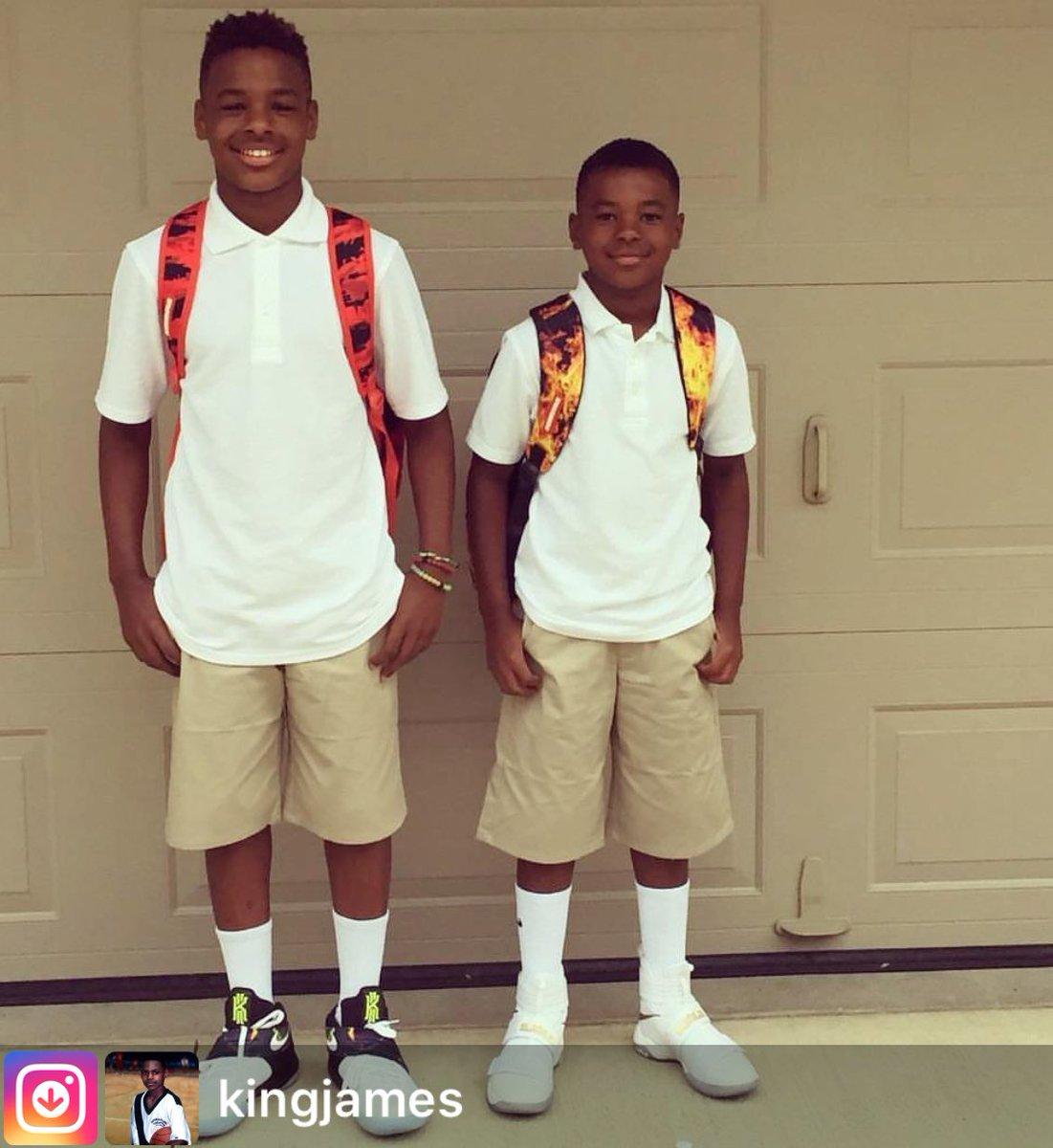 "BALLGOD on Twitter: ""LeBron James Jr. & Bryce James, first ..."