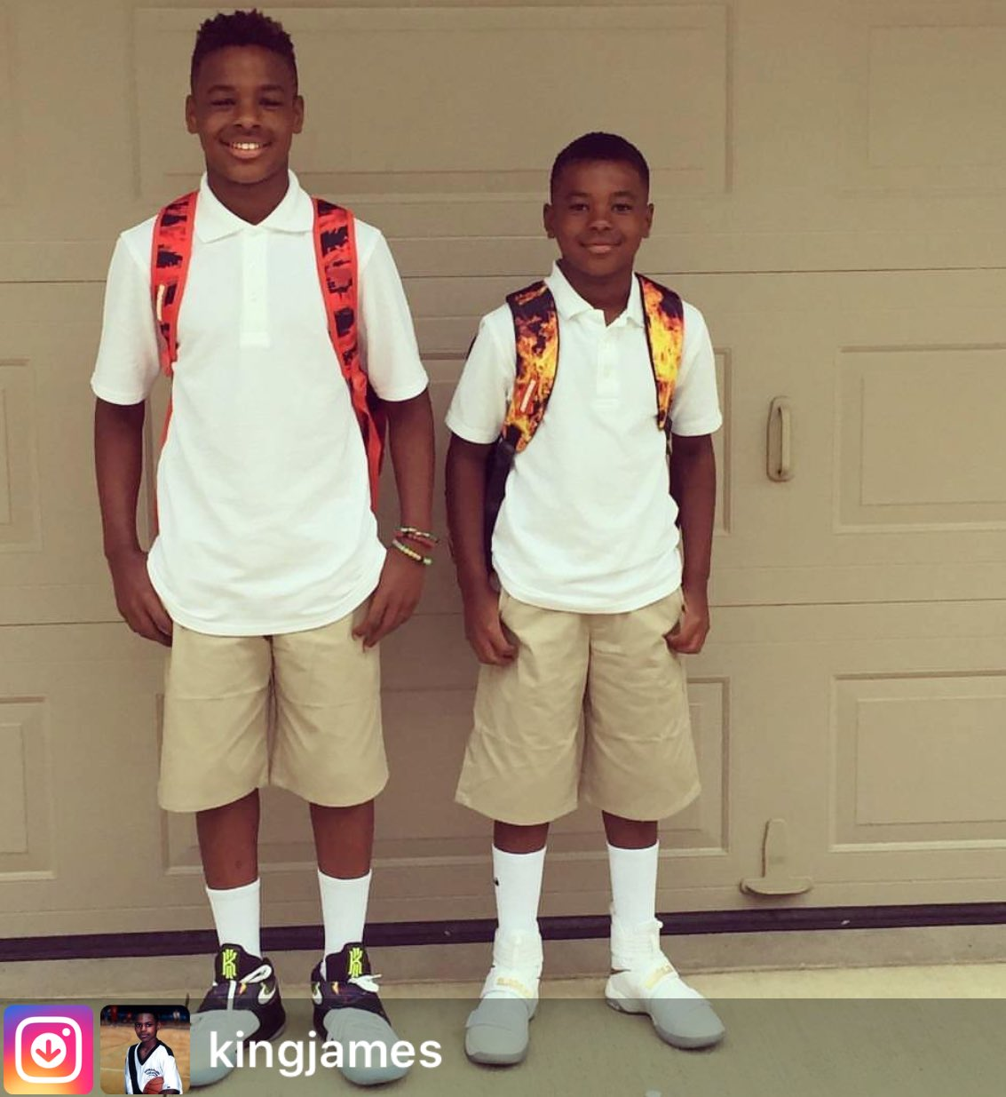 "BALLGOD On Twitter: ""LeBron James Jr. & Bryce James, First"