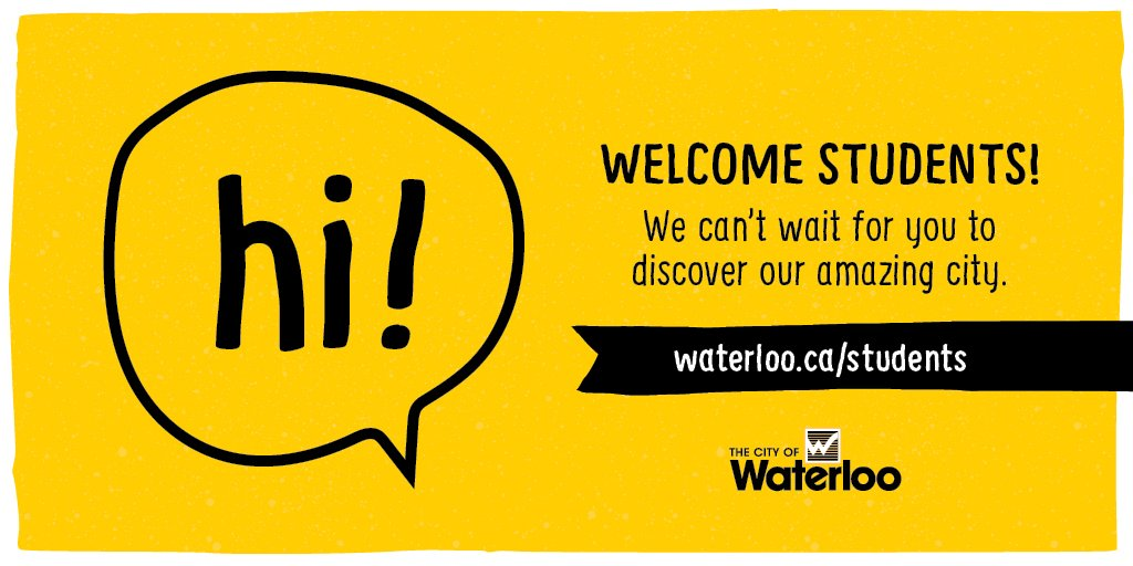 For those returning this weekend, welcome home. The 30,000+ students that live here make Waterloo what it is https://t.co/TIk3xrvvMw
