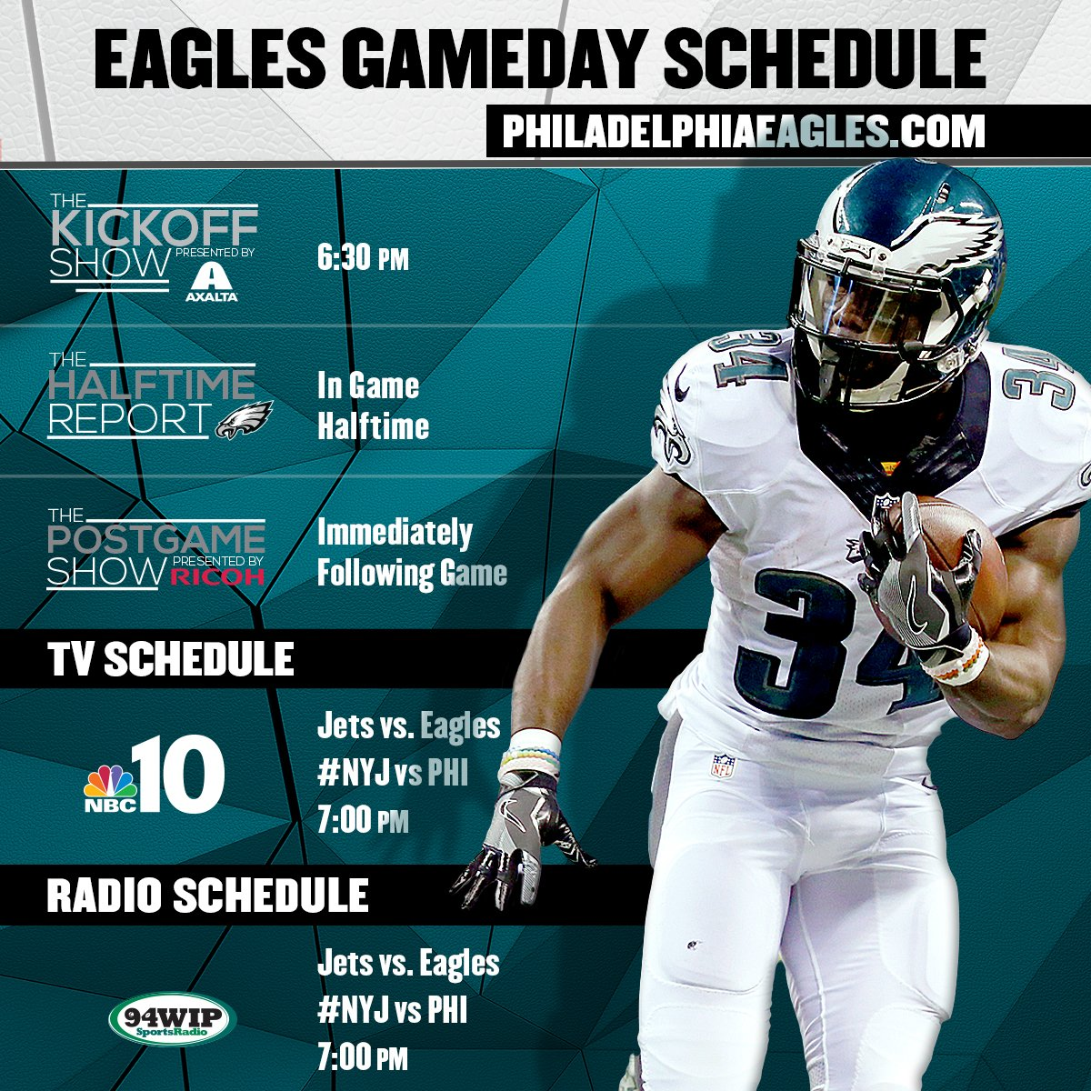 Colorado Eagles Schedule: Today's #NYJvsPHI Gameday Schedule ... Https://t.co