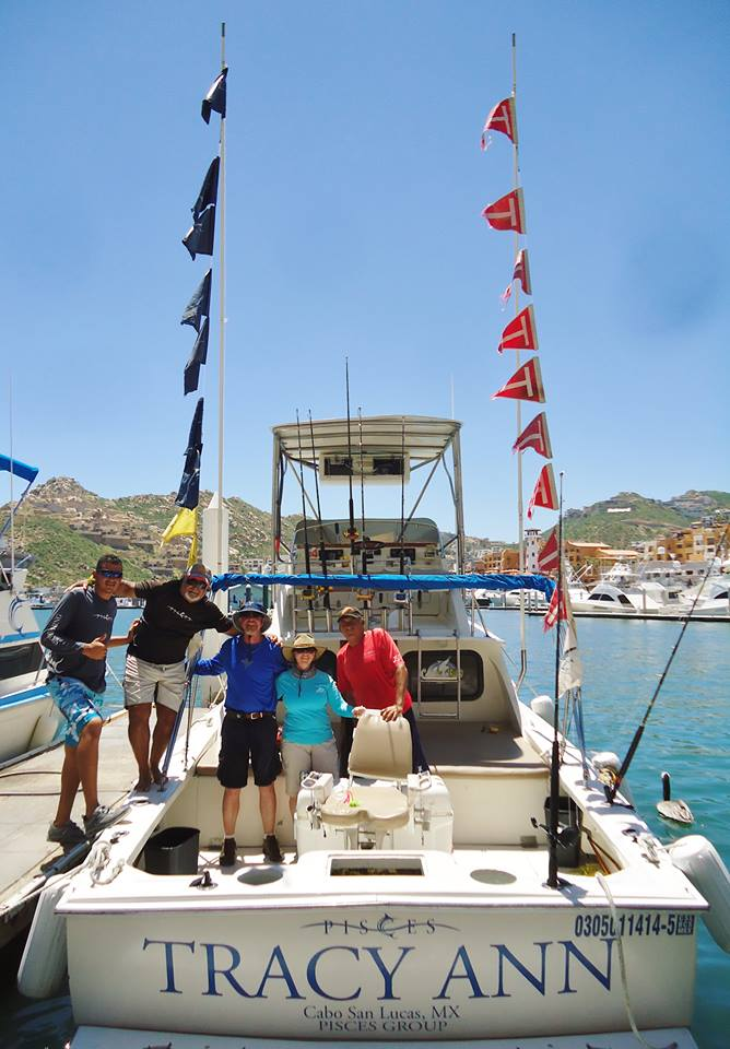 Cabo, MX - Tracy Ann released 7 Striped Marlin.
