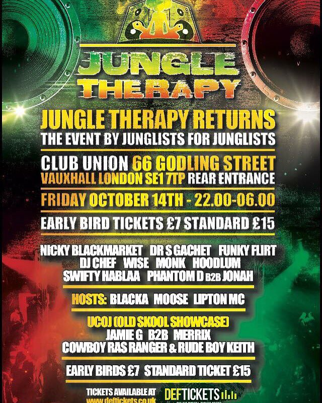 Mays event was rammed so don't miss out on another pure 100% old Skool jungle night