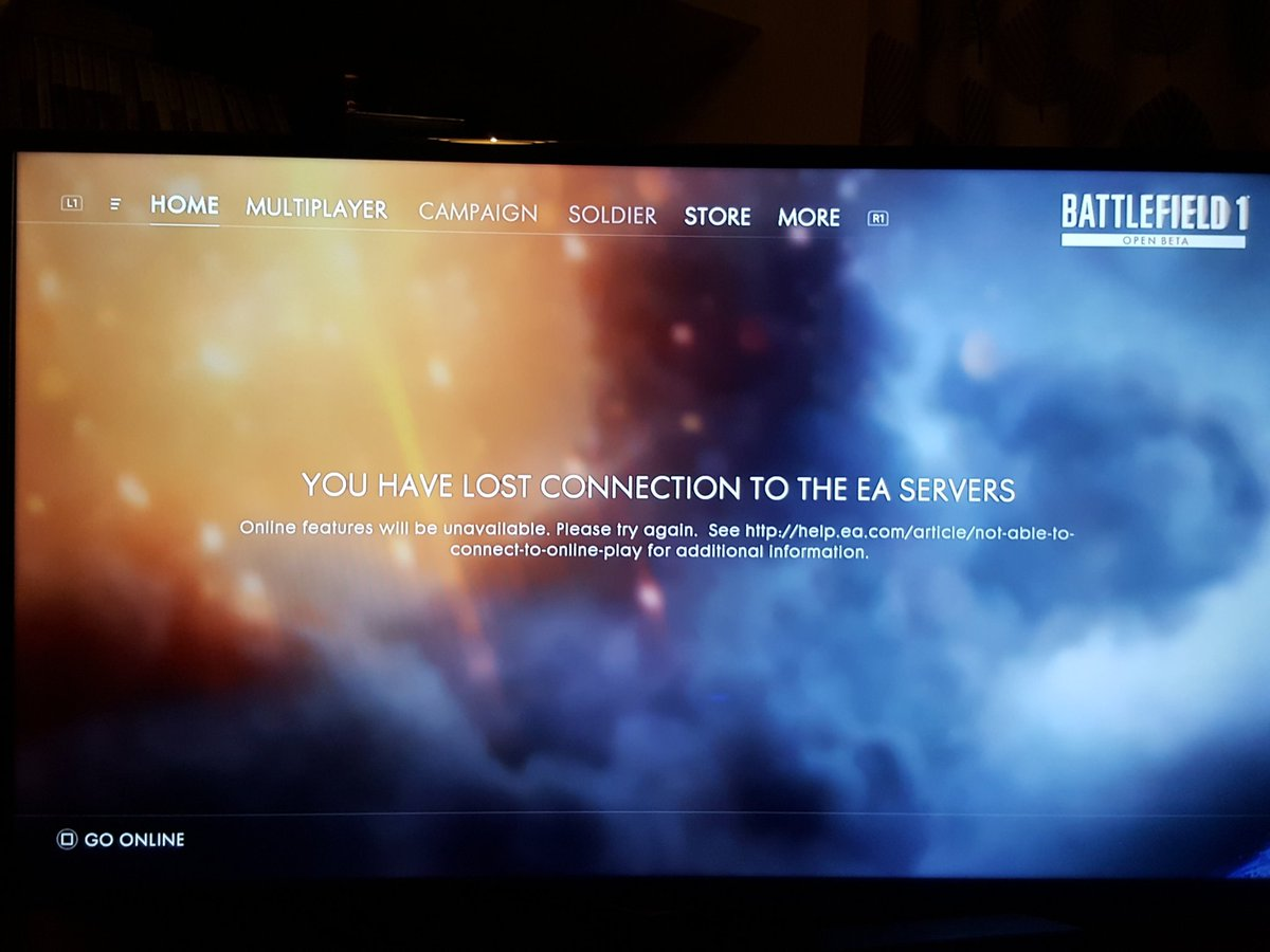 You have lost connection to the EA Servers