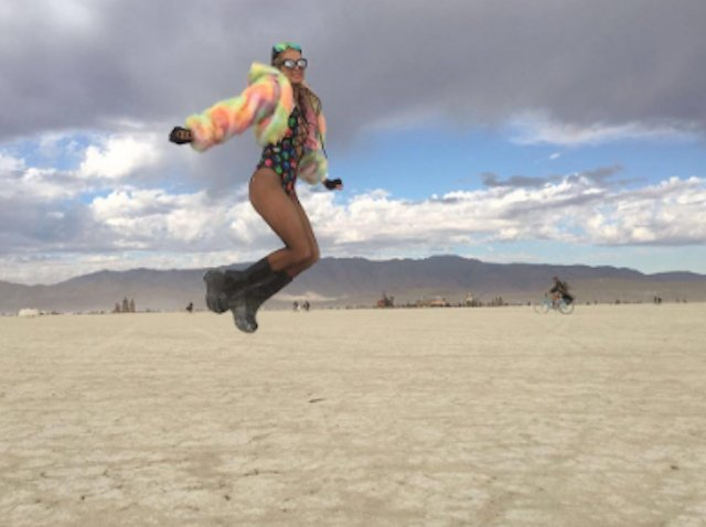 Paris Hilton Is Instagramming From Her First Time At Burning Man, You Guys