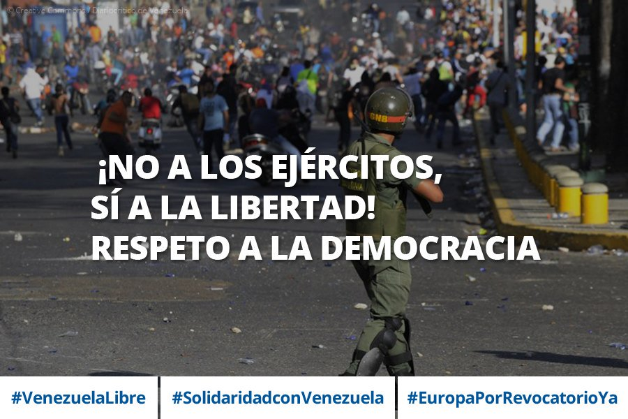 Hacemos un llamamiento al Gobierno #Venezuela para que respete y escuche la voz de su pueblo #EuropaPorRevocatorioYa https://t.co/Q7C703mH2R