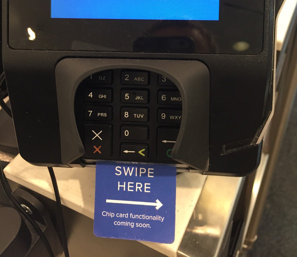 Retailers- if you have a chip reader but aren't using please do something like this. #stopchipconfusion https://t.co/Ax4D5y3cIh