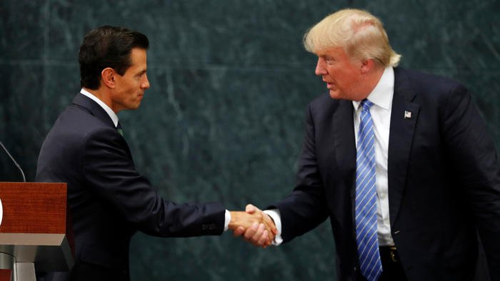 Donald Trump and Mexican President Enrique Peña Nieto met today. Here's what happened