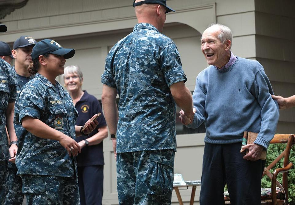 Navy group honors Medal of Honor winner's 92nd birthday