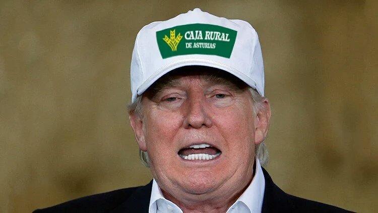 Meme Donald Trump con gorra de Caja Rural - ForoCoches
