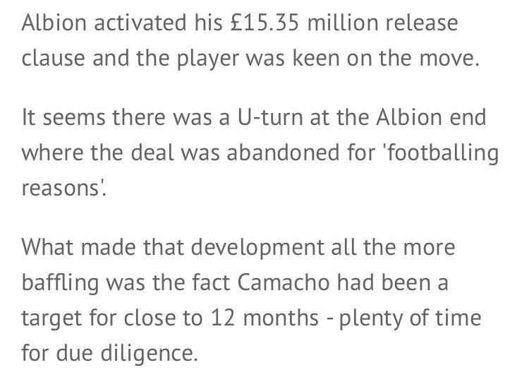 .@WestBromNews on collapsed Camacho deal. That final paragraph: laughably frustrating. #wba https://t.co/of1vYDO49Q