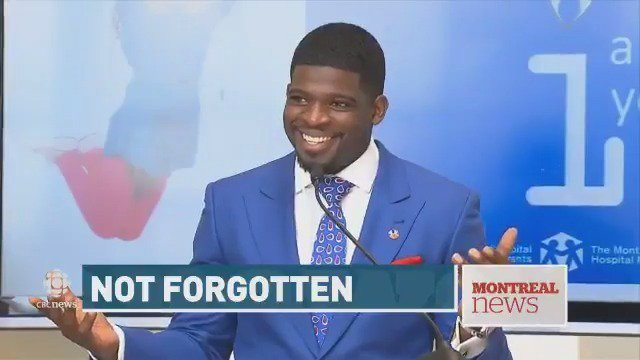 'Kids, I will not let you down,' P.K. Subban tells patients at Montreal Children's Hospital Habs Preds Subban