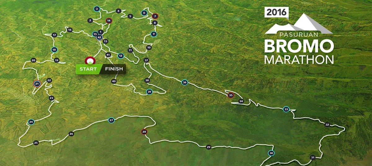 Bromo Marathon Route 2018