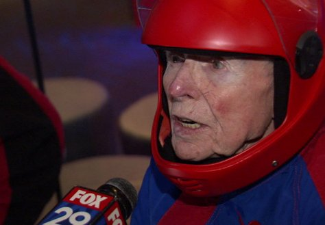 96-year-old veteran tackles indoor skydiving in King of Prussia