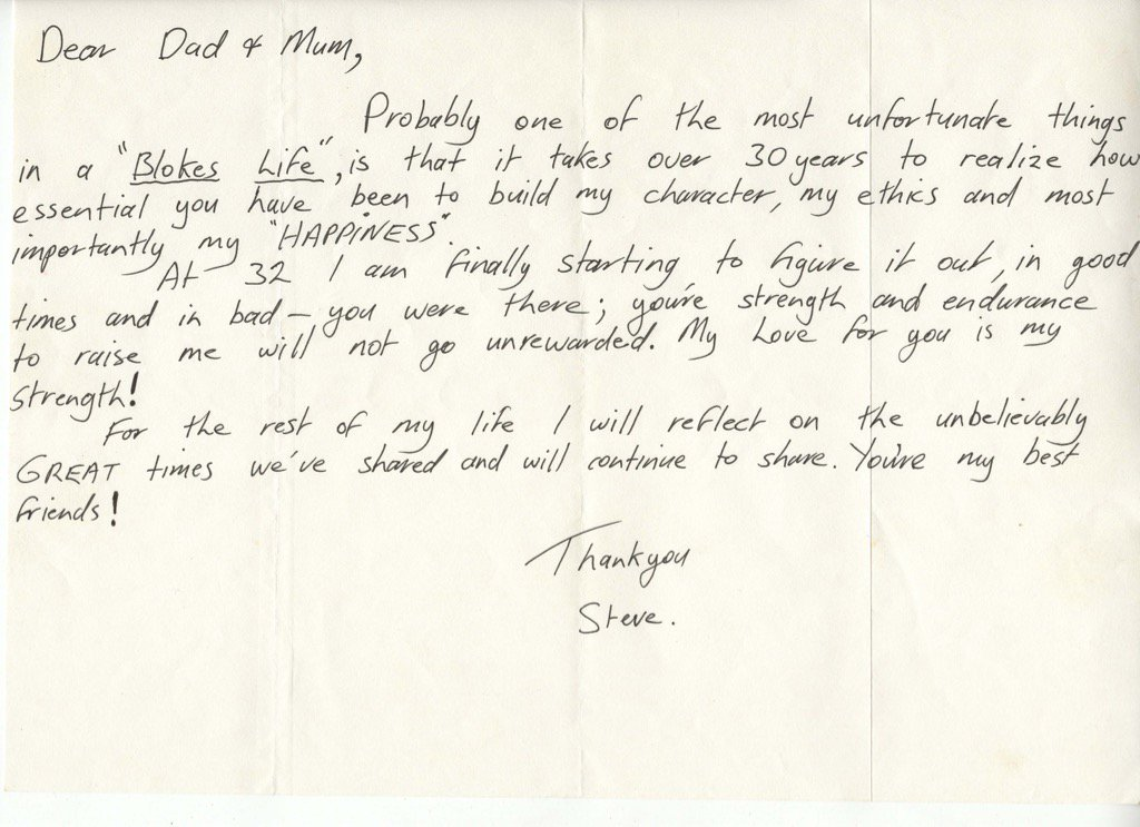 Steve Irwin's dad Bob will release tell-all book next month! He found this note from Steve,aged 32, when researching https://t.co/XPtixmtGvR