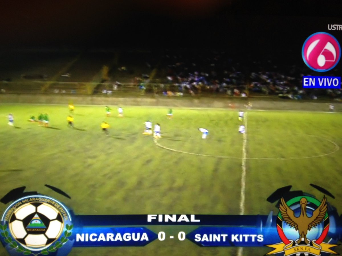 That's the game! Nicaragua 0-0 St.Kitts and Nevis. #sknpositive #cleansheet 🇰🇳🇰🇳🇰🇳 https://t.co/zjuQU8D05D