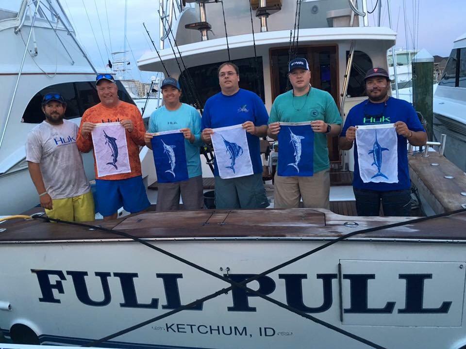Virginia Beach, VA - Full Pull released a Fantasy Slam (Blue Marlin,White Marlin, Sailfish,Spearfish and Swordfish).