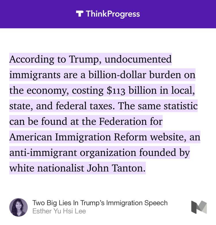 """Judd Legum On Twitter: """"Trump Cites False Stat From White"""