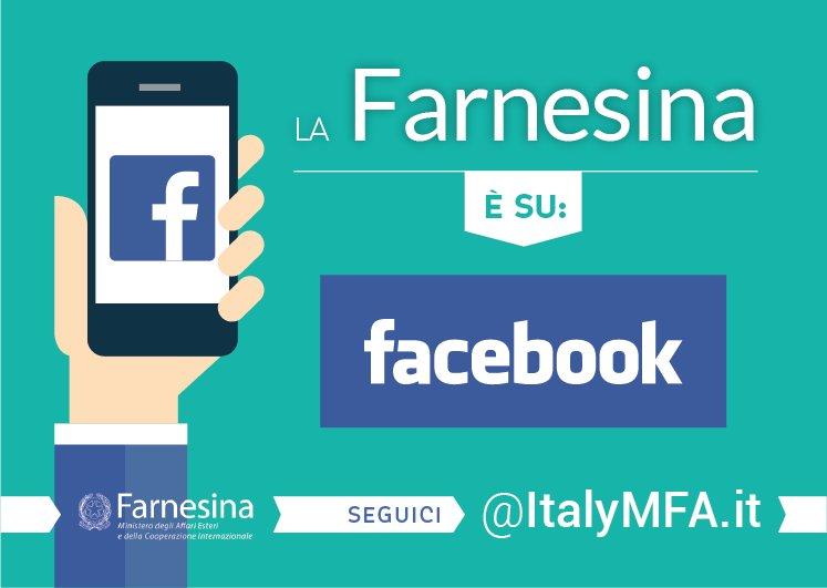 Seguici anche su #Facebook ➡️ https://t.co/lKRBM81L6o. La politica estera italiana a portata di click #openFarnesina