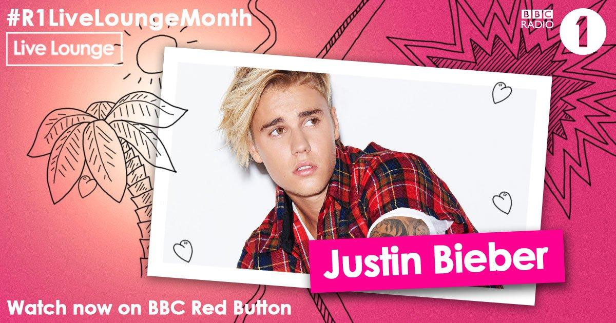 To watch @justinbieber's #R1LiveLoungeMonth debut hit that