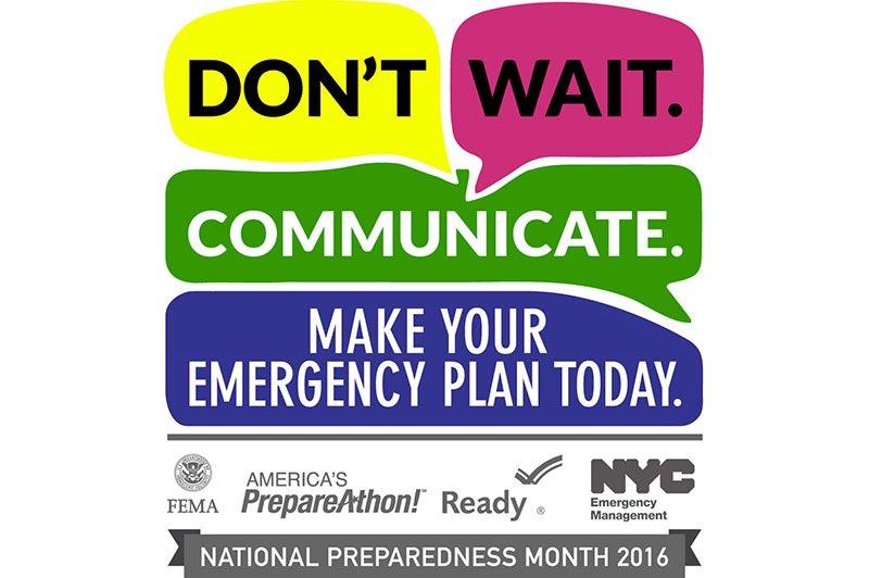 National Preparedness Month 2016 logo