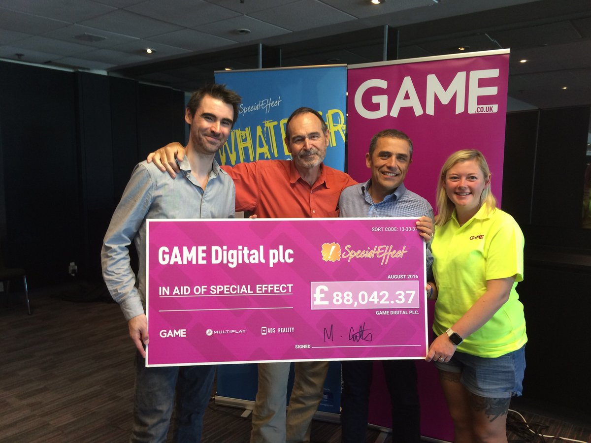 Simply staggering news from @GAMEdigital over £88k raised in stores in 2016! Thank you everyone, we're speechless! https://t.co/qJ83422bVM