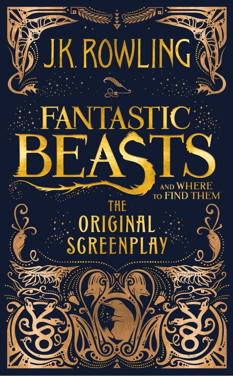 .@LittleBrownUK has revealed the cover for @jk_rowling's #FantasticBeasts screenplay: https://t.co/iMc3o9xMq8