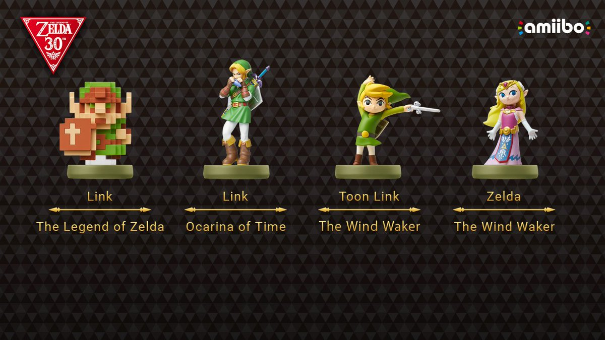 zelda 30th anniversary amiibo announced zelda