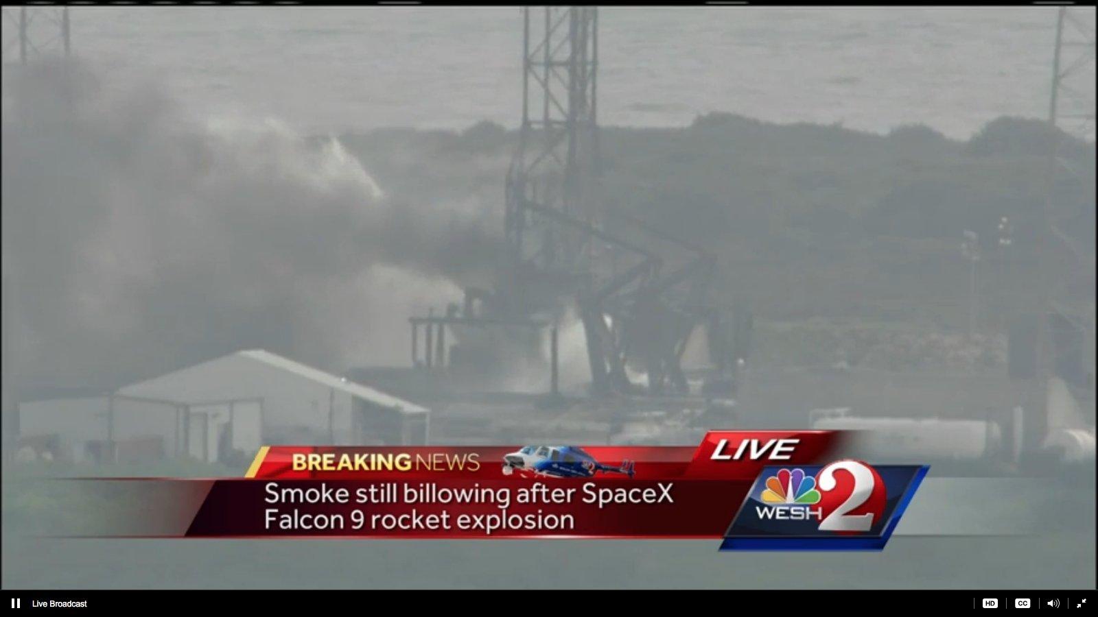 Космос: Ракета SpaceX взорвалась на стартовой площадке