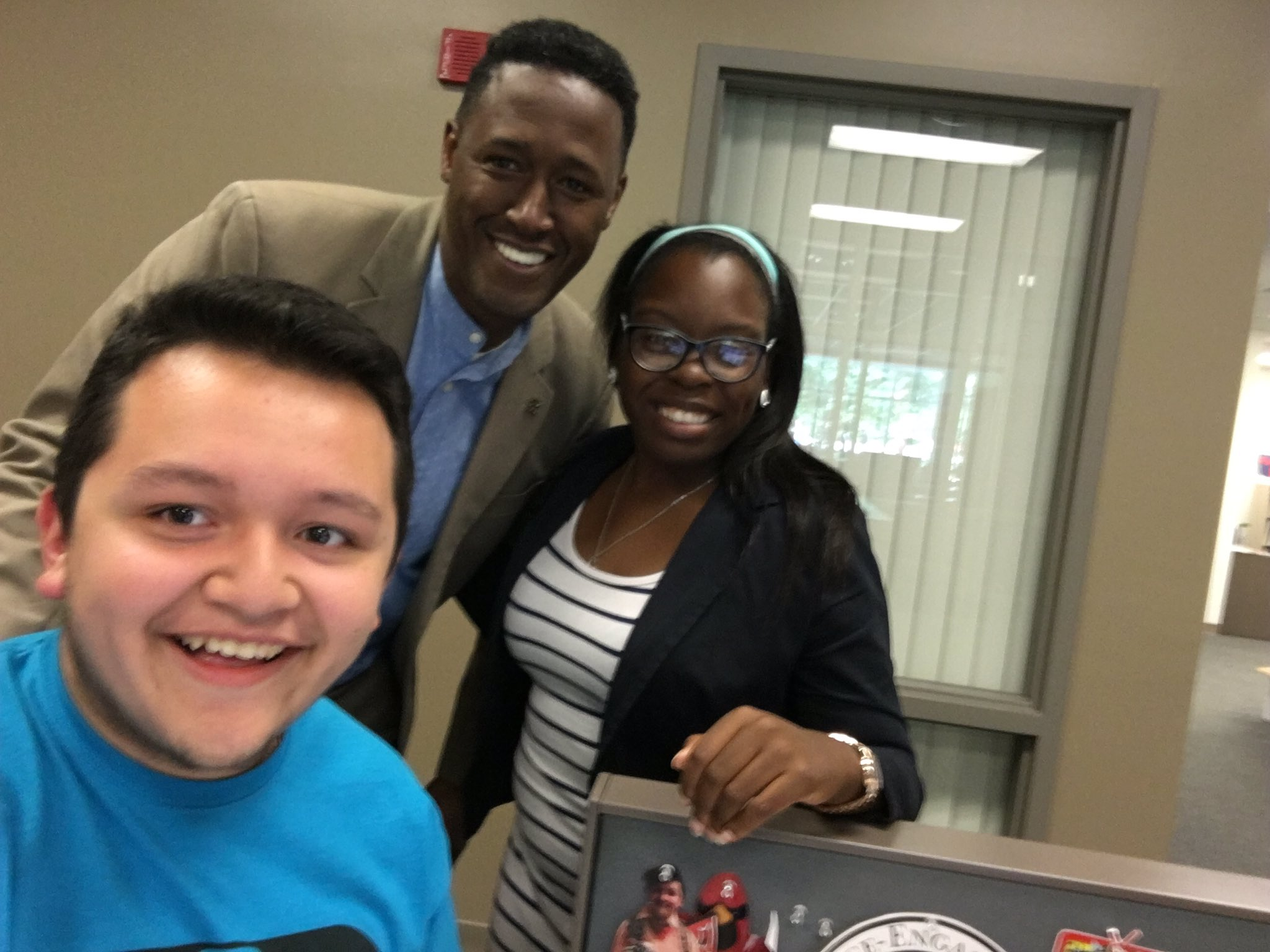 First tweet, first week! Thankful for these two in the Office of Student Affairs! More to come #WeEngage #WeCardinal https://t.co/u0C9mx0SwJ