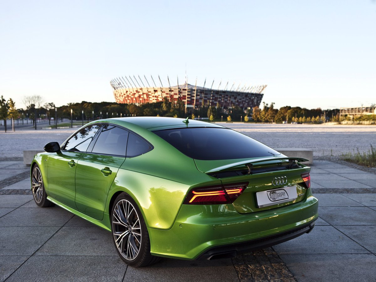 Auditography On Twitter Morning Colors Audi A7 In Java Green